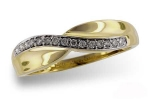 D5019Y Diamond Wave Ring