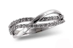 D5020W Diamond Double Wave Ring