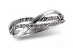D5020W Diamond Double Wave Ring