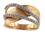 X15275T Diamond Double Wave Ring