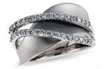 X15275W Diamond Double Wave Ring