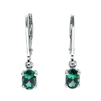 CE2138 Blue-green Tourmaline Earrings