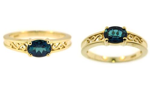 CR2362 Blue Tourmaline Ring