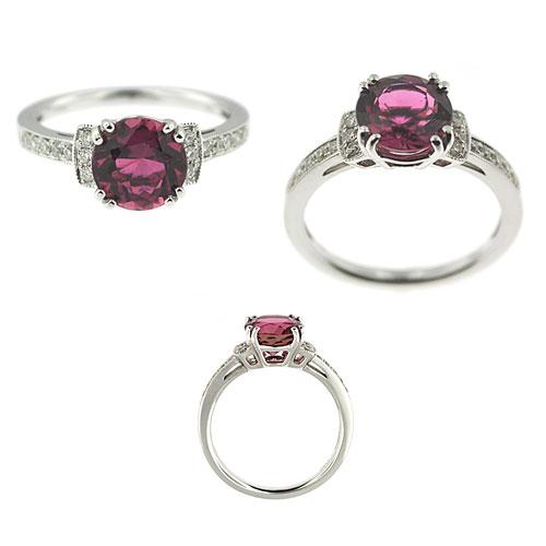 CR2344 Tourmaline & Diamond Ring