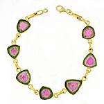 CB201 Watermelon Tourmaline Bracelet