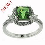 CR2392 Tourmaline & Diamond Ring