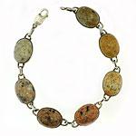 KBBS3 Lg. SS Beach Stone Bracelet