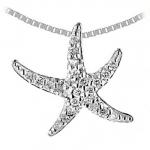 6422-2 Sm. Gold & Diamond Starfish Necklace