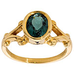 CR3360 Blue Tourmaline Ring