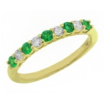 1674BE Emerald and Diamond Band
