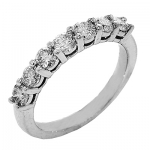 1655B Diamond Band set in 14K White Gold