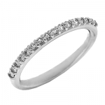 1647B Diamond Band set in 14K White Gold