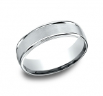 RECF760214KW Men's 14K White Gold Band