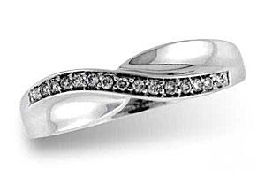 D5019 Diamond Wave Ring