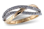 D5020 Diamond Double Wave Ring