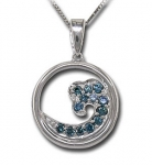 CP1964 Diamond Wave Necklace