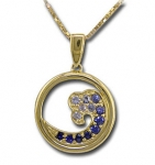 CP1850 Sapphire Wave Necklace
