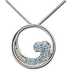 CP1974 SS/Topaz Wave Necklace