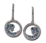 WV2DBWI Diamond Wave Earrings