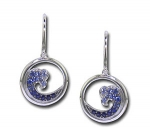 CE2010 Sapphire Wave Earrings