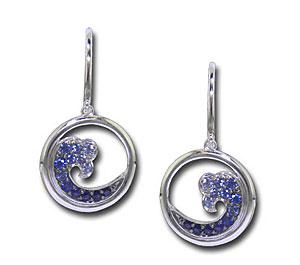 CE2010 Sapphire Wave Earrings
