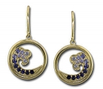CE2011 Sapphire Wave Earrings