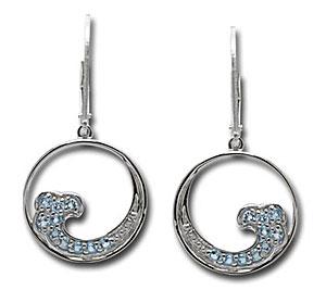 CES105 SS/Topaz Wave Earrings