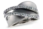 X15275W Diamond Double Wave Ring