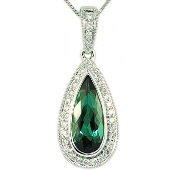 CP1855 Tourmaline & Diamond Necklace