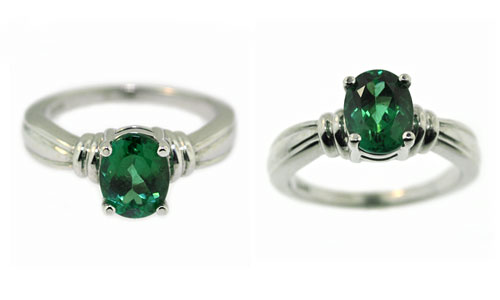 CR1939 Green Tourmaline Ring