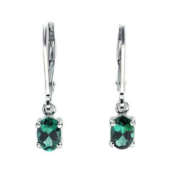 CE2138 Blue-green Tourmaline Earrings