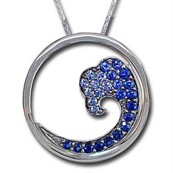 CP1849 Sapphire Wave Necklace