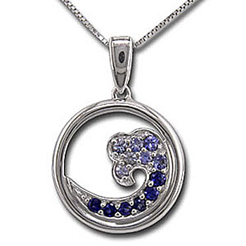CP1868 Sapphire Wave Necklace