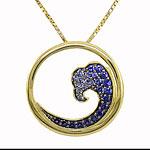 CP1851 Sapphire Wave Necklace