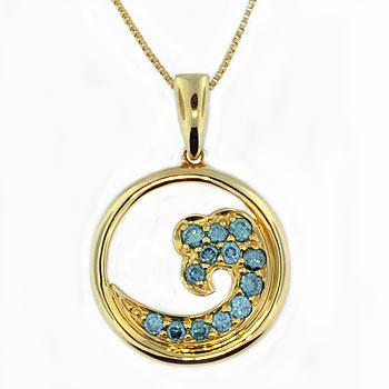 CP1973 Diamond Wave Necklace