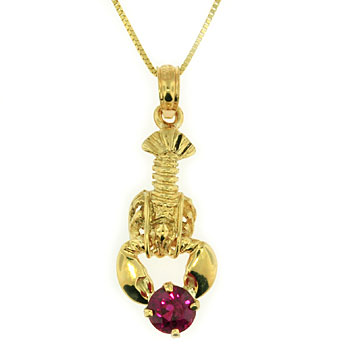CP2068 Lobster w/Tourmaline Necklace