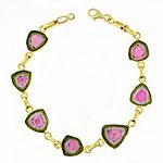 CB201 Watermelon Tourmaline Bracelet