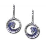 WV2SI SS/Sapphire Earrings
