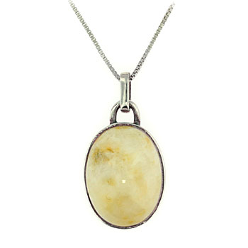 CPS92 SS Beach Stone Necklace