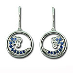 CE2343 Sapphire & Diamond Wave Earrings