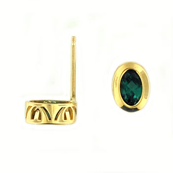CE2388 Blue Tourmaline Stud Earrings