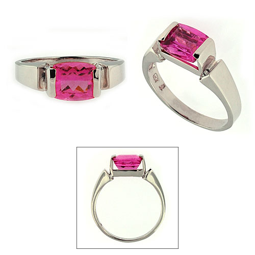 CR2736 Pink Tourmaline Ring
