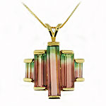 CP2408 Watermelon Tourmaline Necklace