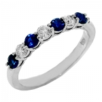 1625BS Blue Sapphire and Diamond Band