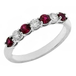 1625BR Ruby and Diamond Band