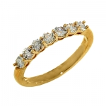 1625B Diamond Band set in 14K Yellow Gold
