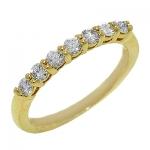 1654B Diamond Band set in 14K Yellow Gold