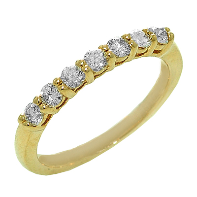 1654B Diamond Band set in 14K Yellow Gold