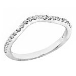 1687B Curved Diamond Band set in 14K White Gold