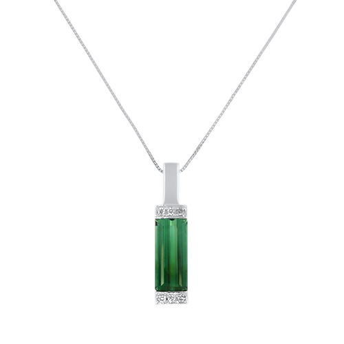 Beacon of Light Green Tourmaline Necklace